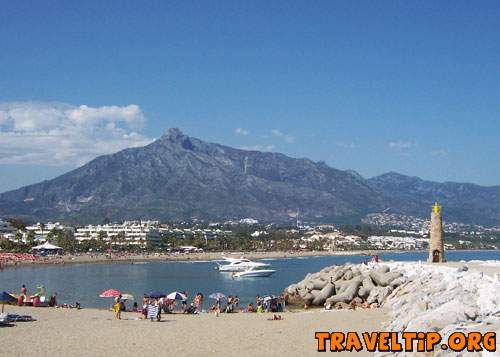 Spain - Andalucia - Marbella - Costa del Sol Spain - View from the pier over the Puerto Banus East bay